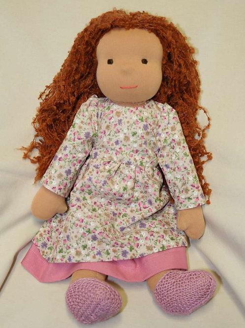 Waldorfpuppe rotes Haar 3