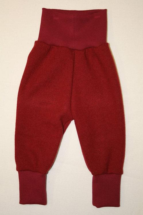 Strickhose aus Merinowolle, rot
