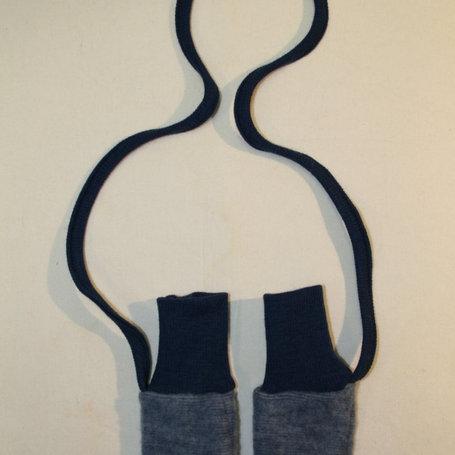 Babyhandschuhe Wolle (Schurwolle-Fleece kbT), Blau