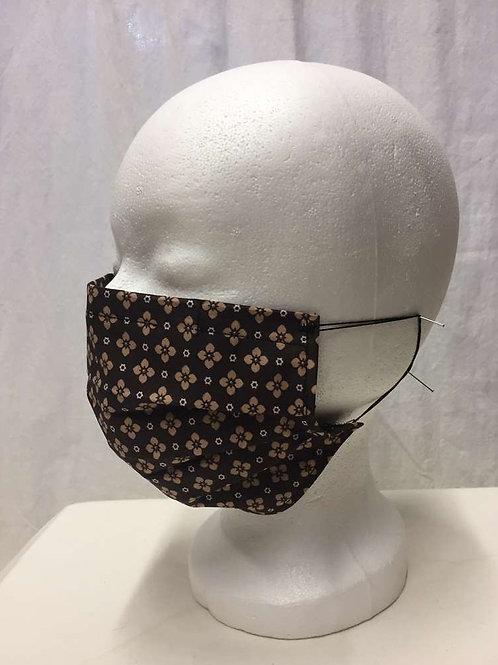 Maske, braunblumig