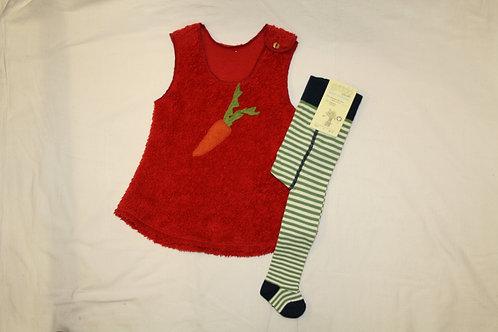 Kleid aus Teddyplüsch, rot ab Gr.92