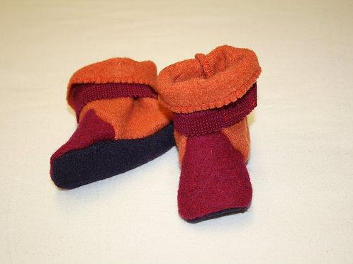 Baby-Stiefelchen, pink/orange