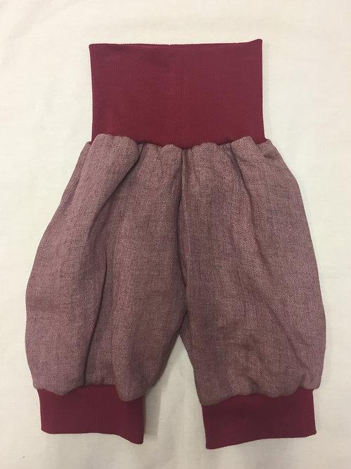 Kurze Leinenhose ab Gr.62, rosa