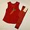 Thumbnail: Kleid aus Baumwolle (Teddyplüsch),rot ab Gr.62