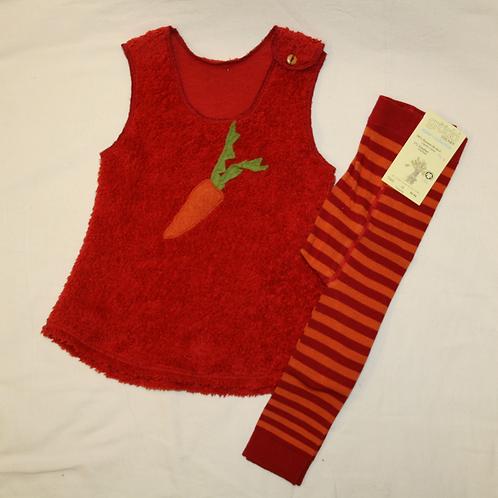 Kleid aus Baumwolle (Teddyplüsch),rot ab Gr.62