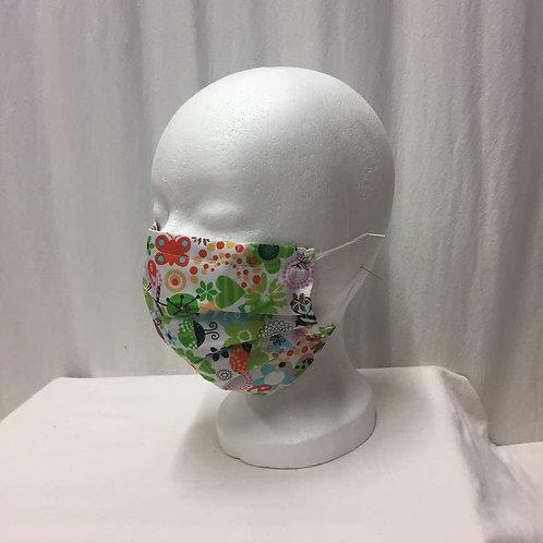 Maske, bunte Zeichnungen