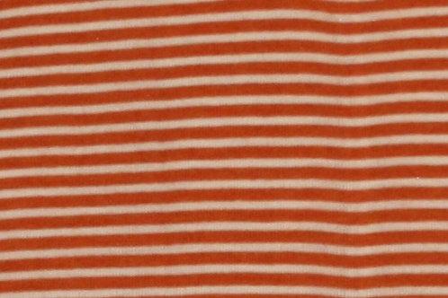 Wolle/Seide T-Shirt ab Gr.92, orangegestreift
