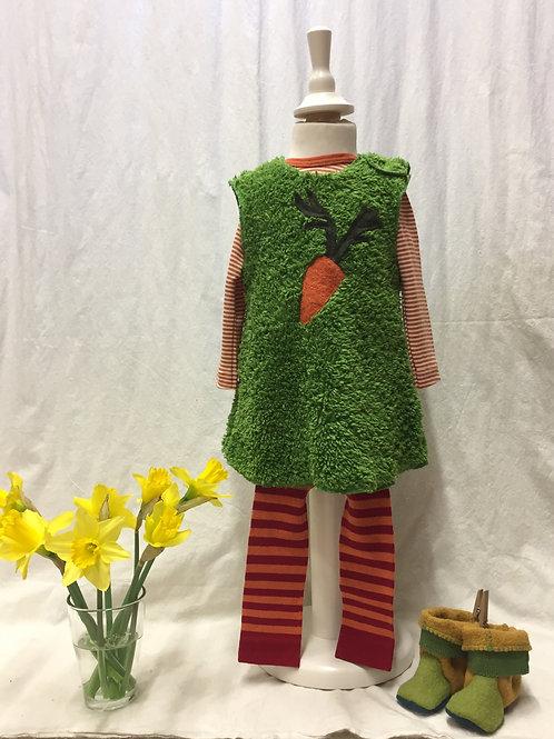 Kleid aus Baumwolle (Teddyplüsch), grün ab Gr.62