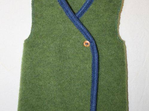Weste aus Wolle (Fleece), Moosgrün