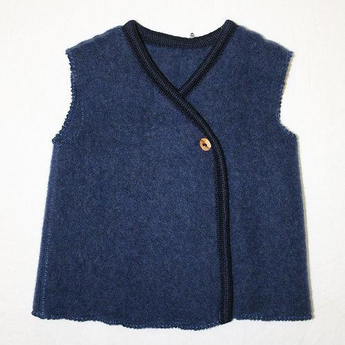 Wolle (Fleece)weste, blau
