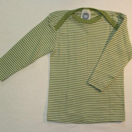 Schlupfhemd Wolle/Seide ab Gr.50, grüngestreift