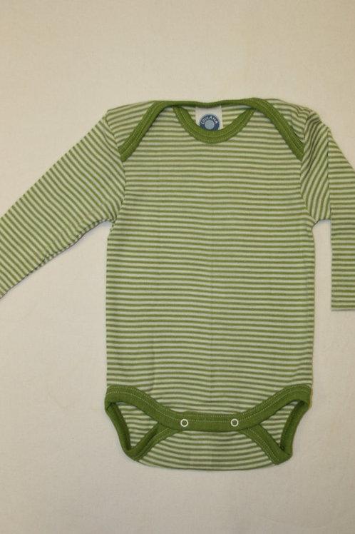 Wolle/Seide Body ab Gr.50, grüngestreift