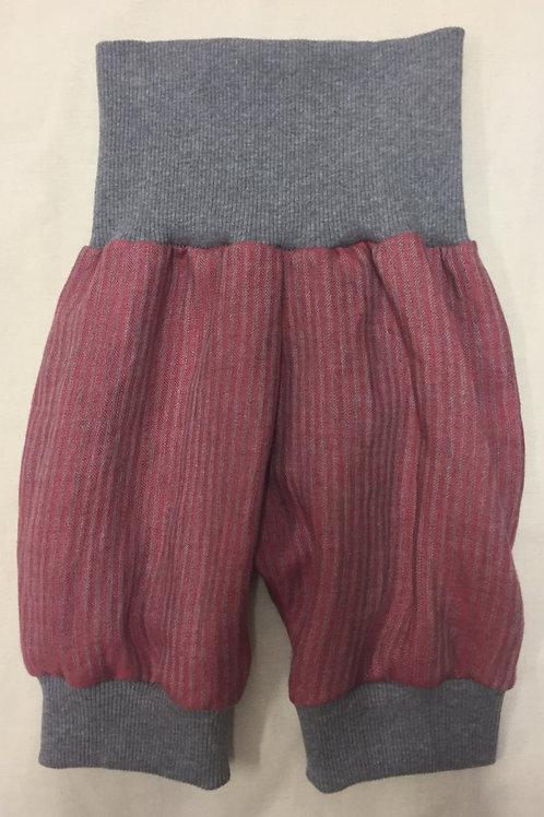 Kurze Leinenhose ab Gr 62, rosagestreift