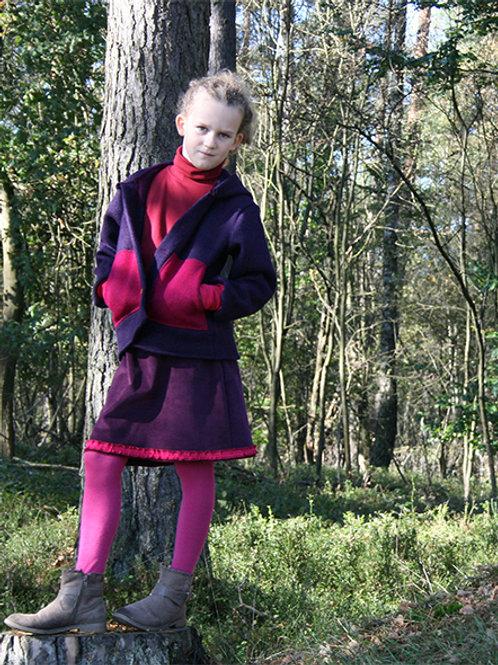 Walkjacke mit Kapuze und Taschen, lila