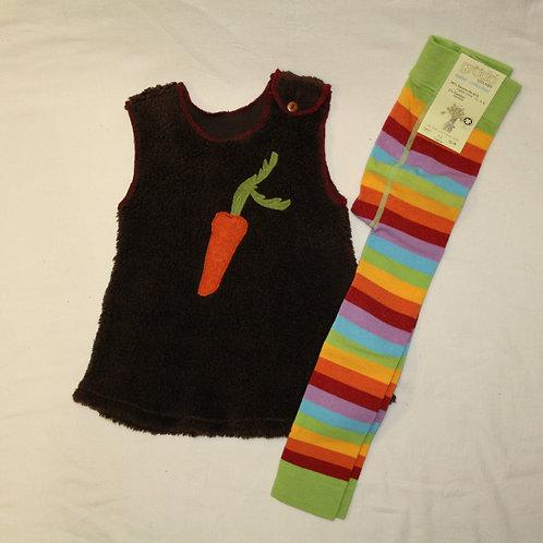 Kleid aus Baumwolle (Teddyplüsch),braun ab Gr.92