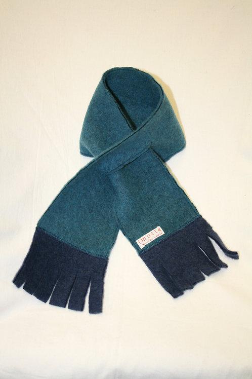 Schal aus Wolle (Fleece), petrol