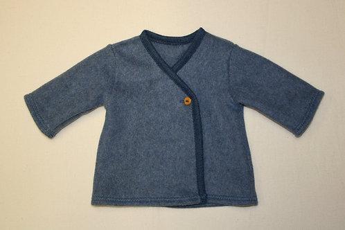"Fleecejacke ""Karl"" ab Gr.92, jeansblau"