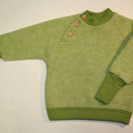 Pullover ausWolle (Fleece) ab Gr.50, Grün
