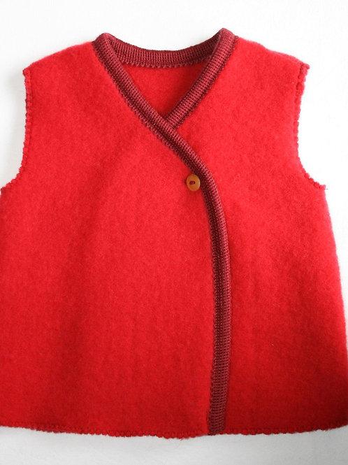 Weste aus Wolle (Fleece), rot
