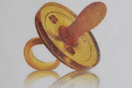 Schnuller Naturkautschuk, von Goldi, oval