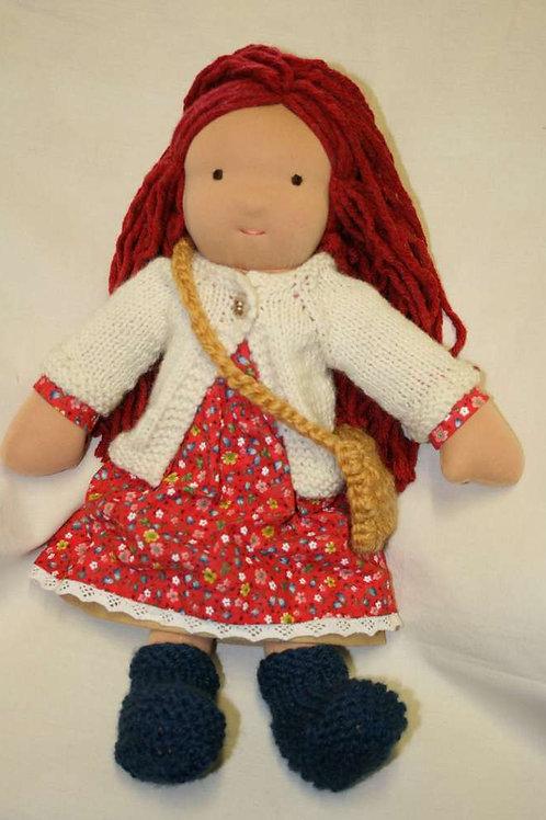 Waldorfpuppe rotes Haar 2