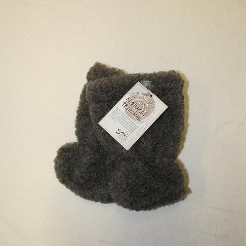 Babyschuhe aus Wollplüsch, grau