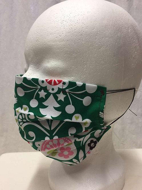 Maske, grün mit Muster