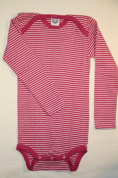 Wolle/Seide Body ab Gr.50, pinkgestreift