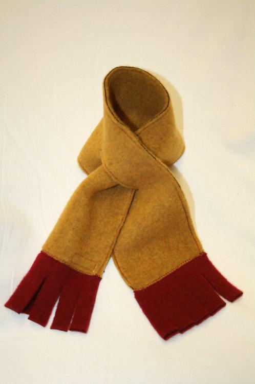 Schal aus Wolle (Fleece), senfgelb