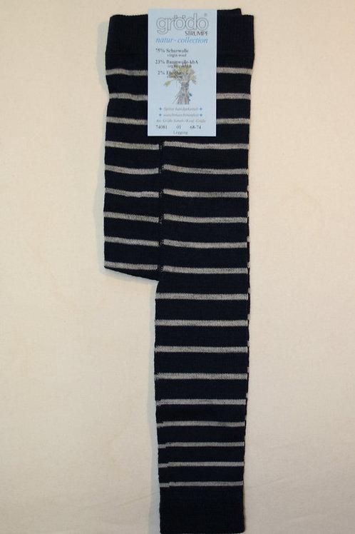 Leggings mit Wolle ab Gr.56, Blaugestreift