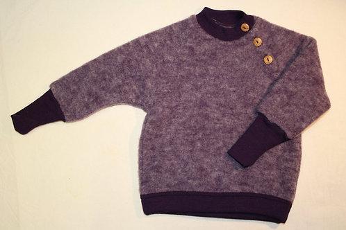 Pullover aus Wolle (Schurwolle-Fleece kbT) Gr.98/104 lila