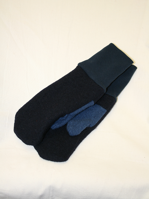 Handschuhe aus Walk, blau