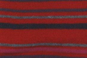Kniestrumpf aus Wolle ab Gr.19, Rotgeringelt