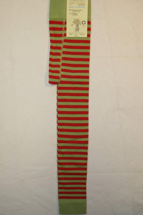 Leggings ab Gr.92, Grün/Rot