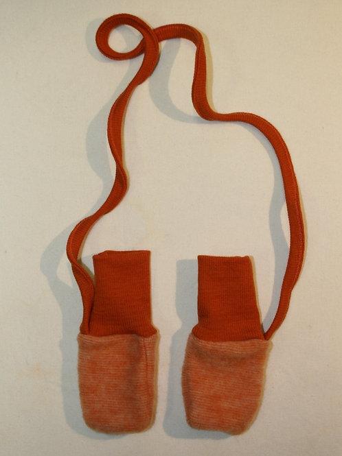Babyhandschuhe, orange