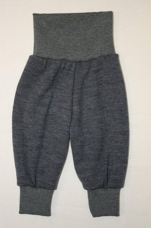 Strickhose aus Wolle (Merinowolle), grau