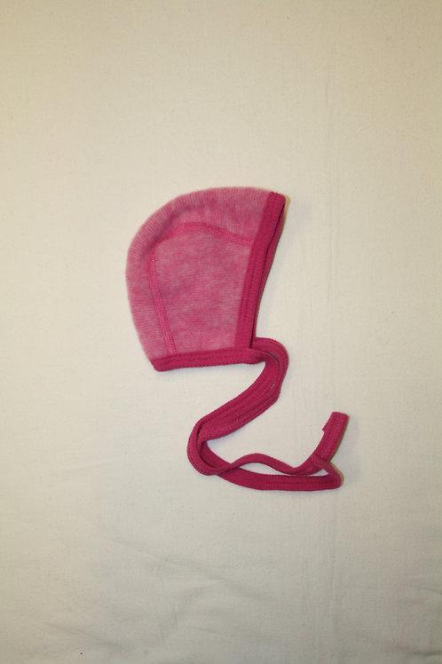 Babymütze aus Wolle (Fleece), pink