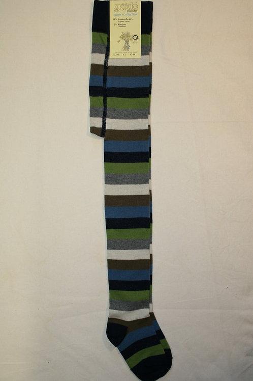 Ringelstrumpfhose ab Gr.92, grünblau