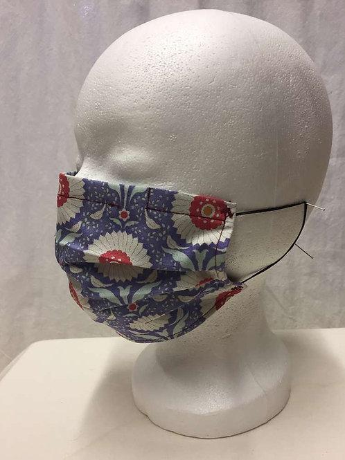 Maske, lila grossblumig