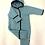 Thumbnail: Walkoverall mit Kapuze, pastelltürkis