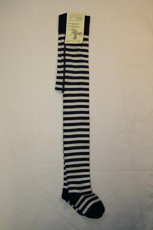 Wollstrumpfhose ab Gr.92, Blaugeringelt