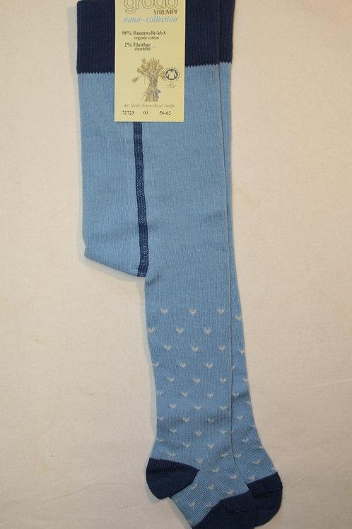 Strumpfhose mit Herzen ab Gr.56, Blau