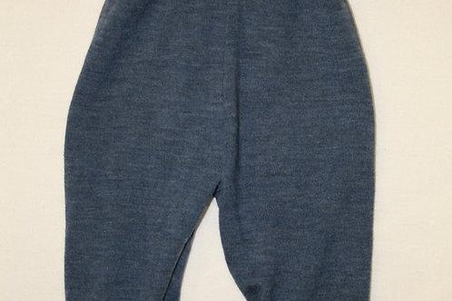 Strickhose aus Merinowolle, Blau
