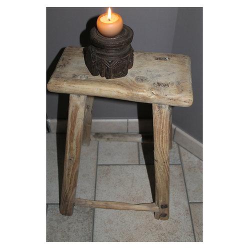 Rechthoekig houten krukje