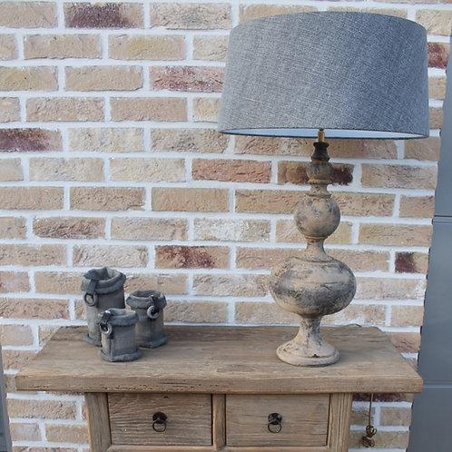 Lamp met linnenkap