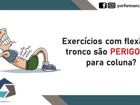 Exercícios com flexão de tronco são perigosos para coluna?