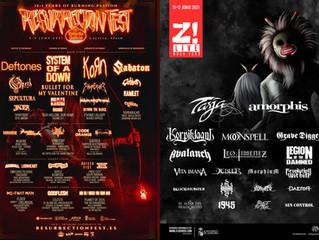 RESURRECTION FEST y Z! LIVE Rock Fest actualizan cartel