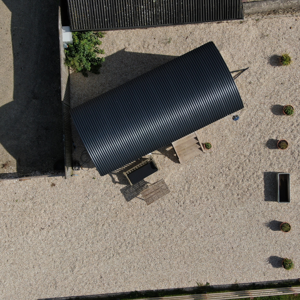 The Shepherds Hut from above
