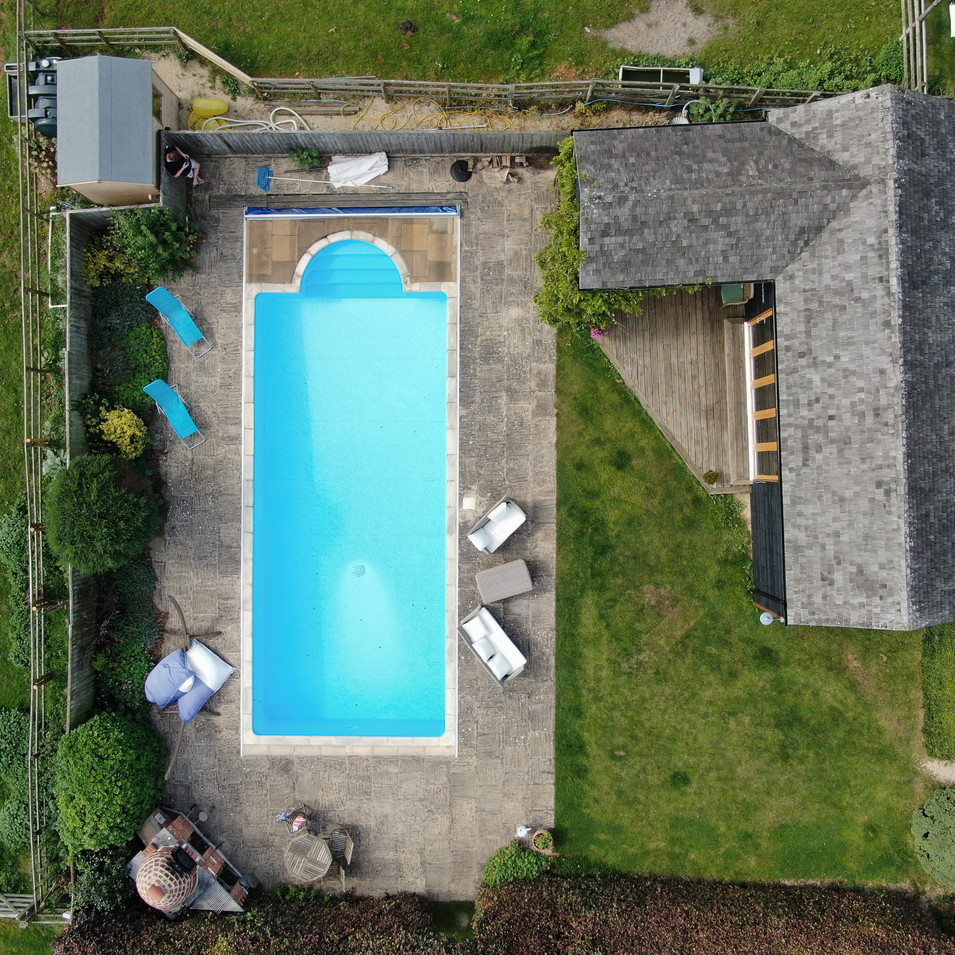 The Pool House from above
