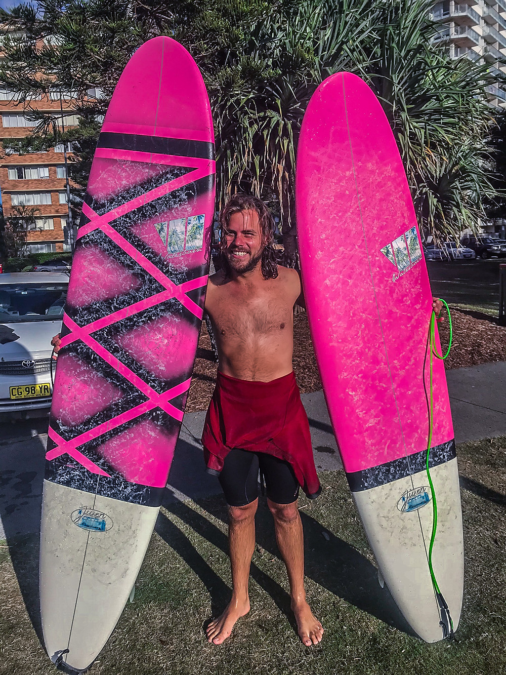 Pink surfboards, small wave killers, pipeline